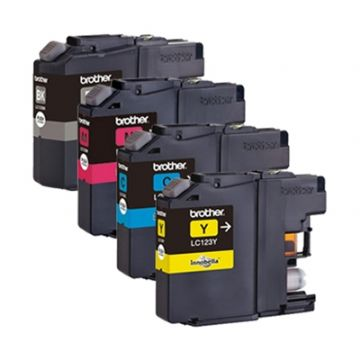 Brother LC123 4 Colour Refurbished Ink Cartridge Multipack (LC-123BK/LC-123C/LC-123M/LC-123Y)